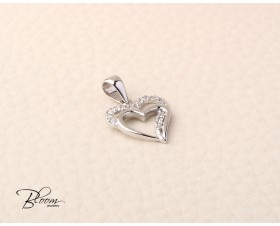 Solid Gold Heart Pendant 14K