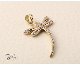 Yellow Gold Dragonfly Pendant