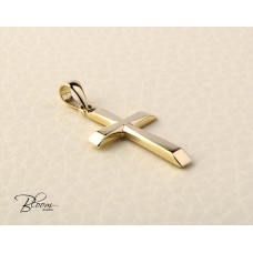 Stylish Solid Gold Cross Pendant Bloom Jewellery