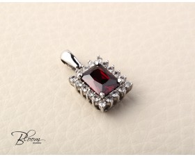 Solid Gold Ruby Pendant 14K