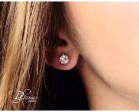 Delicate White Gold Diamond Earrings