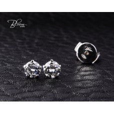Elegant Earrings Natural Diamond Stones