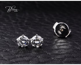 Elegant Earrings Natural Diamond Stones