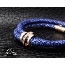 18K Rose Gold Stingray Bracelet and Natural Diamond Stones