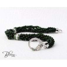 White Gold Green Sapphire Diamond Bracelet