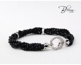 White Gold Onyx Diamond Bracelet