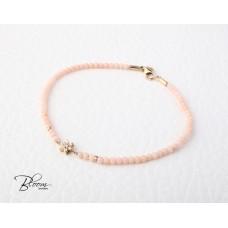 Pink Coral Diamond Bracelet