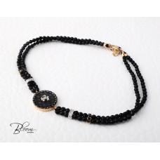 White Rose Gold Onyx Bracelet