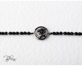 Om Symbol Onyx Bracelet