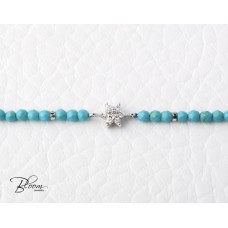 White Gold Turquoise Diamond Bracelet