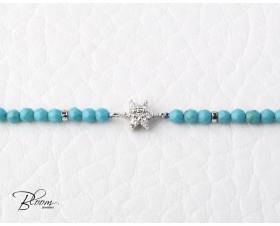White Gold Turquoise Diamond Bracelet