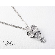 Elegant 18K White Gold Diamond Necklace