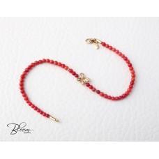 Rose Gold Pink Coral Bracelet
