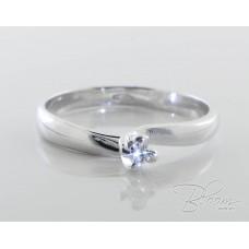 Engagement Diamond Ring in 18K White Gold