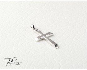 14 Karat White Gold Cross