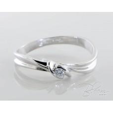 Delicate Engagement Diamond Ring 18K White Gold