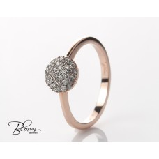Delicate Diamond Ring Rose Gold by Bloom Jewellery