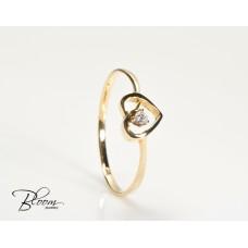 Heart Gold Ring 14K and Cibic Zirconia Stone
