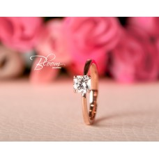 Radiant Cut Diamond Engagement Ring 18K Rose Gold