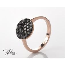 Black Diamond Ring in 18K Rose Gold by Bloom Jewellery