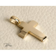 Personalized Gold Cross Pendant 14K Solid Gold Bloom Jewelley