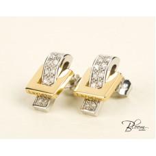 Diamond Earrings White and Yellow Gold 18K Guy Laroche