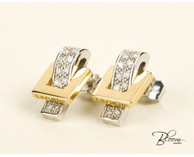 Diamond Earrings White and Yellow Gold 18K Guy Laroche