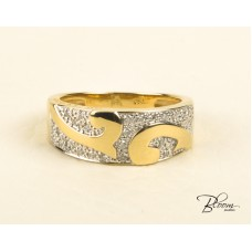 18К Yellow Gold Diamond Ring Guy Laroche