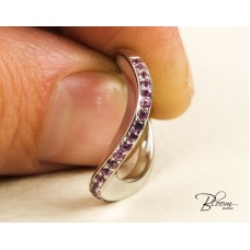 Pink Sapphire Ring 18K White Gold Louis FERAUD