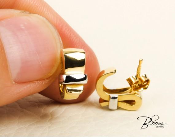 Earrings White and Yellow Gold 18K Guy Laroche