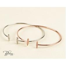 T Bracelet 14K Rose Gold Diamond Cuff Bracelet for Women Bloom Jewellery