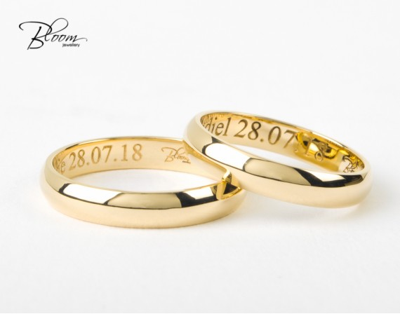 Classic Wedding Rings 14K Yellow Gold Bloom Jewellery