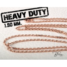 Solid Rose Gold Chain 14K Necklace 1.90 mm. Bloom Jewellery