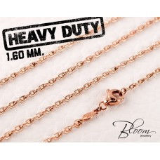 Rose Gold Chain 14K Hand Made 1.60 mm. Bloom Jewellery
