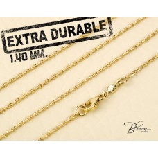 Extra Durable Yellow Gold Chain 14K Hand Made 1.40 mm. Bloom Jewellery