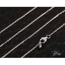 Delicate White Gold Cable Chain 14K 1.00 mm. Bloom Jewellery