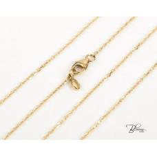Delicate Yellow Gold Cable Chain 14K 1.00 mm. Bloom Jewellery