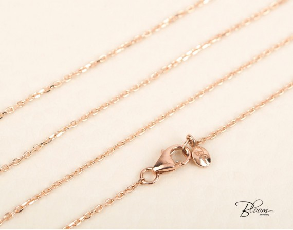 Rose Gold Cable Chain 14K 1.00 mm. Bloom Jewellery