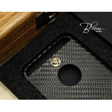 Carbon Case for iPhone 6/6s White Gold OM Symbol