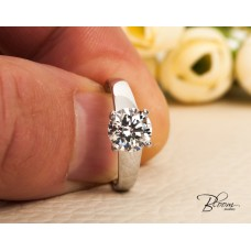 1.32 CT. HRD Certified Diamond Engagement Ring 18K White Gold Bloom Jewellery