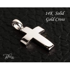 Personalized White Gold Cross Pendant 14K Gift Idea Bloom Jewelley