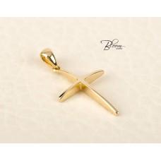 Minimalist Gold Cross Pendant for Women Cross Necklace 14K Bloom Jewellery