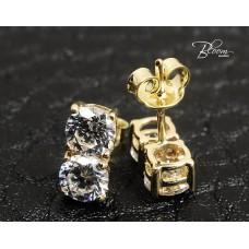 Yellow Gold Stud Earrings in 14K Gold