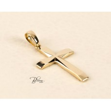 Custom Gold Cross Necklace for Men 14K Solid Yellow Gold Bloom Jewellery