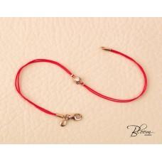 Diamond Red String Bracelet 18K Rose Gold Bloom Jewellery