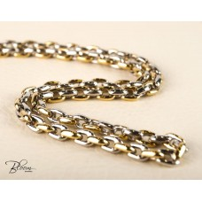 White and Yellow Gold Chain for Men 14K Bloom Jewellery