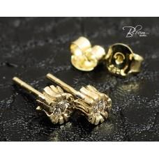 Gold Stud Earrings in 14K Yellow Gold