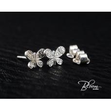 Butterfly Diamond Earrings 18K White Gold