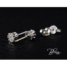 Unusual Diamond Stud Earrings 18K